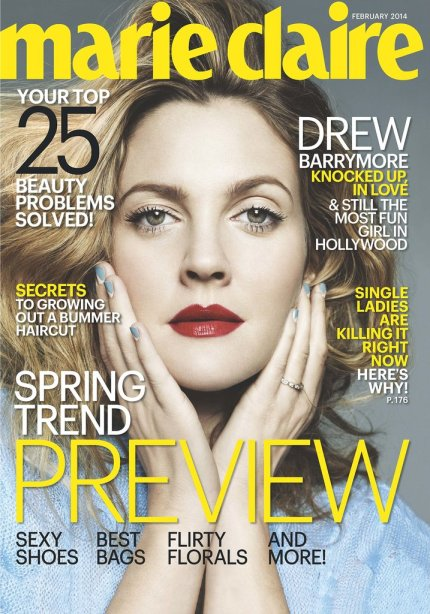 Drew-Barrymore-featured-cover-Marie-Claire-February-2014-issue